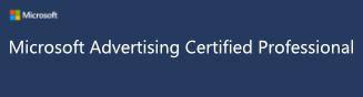 Microsoft Advertising Certified Logo